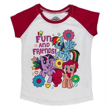 DCCKU3R My Little Pony - Fun and Friends Toddler White T-Shirt