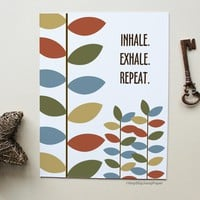 Multicolor Leaves Wall Art - Inhale. Exhale. Repeat.
