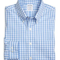 Non-Iron Slim Fit Gingham Sport Shirt - Brooks Brothers