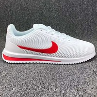 """""""NIKE"""" Cortez Ultra Trending Fashion Casual Sports Shoes White Red G-CSXY"""