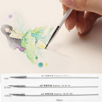 Weasel's Hair Brush Pen Art Watercolor Painting Line Pen Art Supplies Stationery