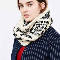 Patterned Geo Knit Snood