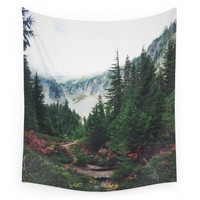 Society6 Mountain Trails Wall Tapestry