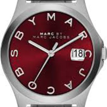 Marc by Marc Jacobs The Slim Red Dial Steel Mens Watch MBM3314