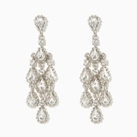 Treble Rhinestone Chandelier Earrings | Charming Charlie
