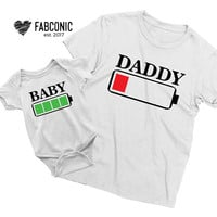 Daddy and son, Daddy and son shirts, Daddy Battery Low Shirt, Daddy and son t-shirts, Daddy baby battery low shirts, Daddy son shirts