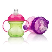 Nuby 2-pk. No-Spill 8-oz. Cups with Super Spout - Baby (Natural)