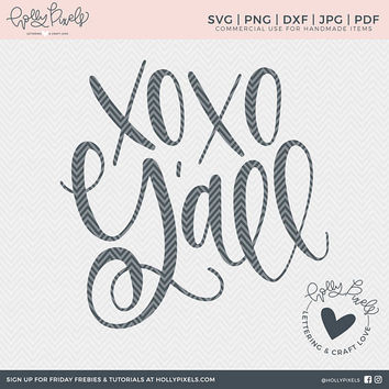 XOXO Yall Southern Savings SVG Files or Valentines Day SVG Files for Tshirt
