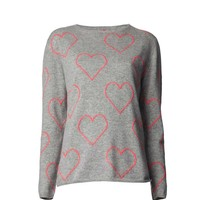 Chinti & Parker Heart Boyfriend Sweater - Cashmere Sweater - ShopBAZAAR