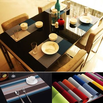 Luxury Home Party Dining Table Place Mats Decoration PVC Bowl Fork Mat Kitchen Cup Coasters Heat Insulated Pads Posavasos cocina
