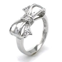 Sterling Silver Cubic Zirconia Infinity Bow Ring - Available Size: 4, 4.5, 5, 5.5, 6, 6.5, 7, 7.5, 8: Jewelry: Amazon.com