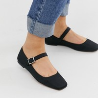 ASOS DESIGN Links mary jane ballet flats in black | ASOS