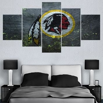 Sport Washington Redskins Logo Paintings Wall Art Home Decor Picture Canvas Painting Calligraphy For Living Room Bedroom