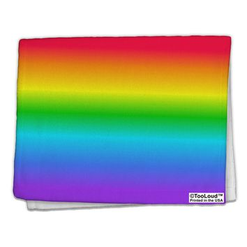 "Horizontal Rainbow Gradient 11""x18"" Dish Fingertip Towel All Over Print by TooLoud"