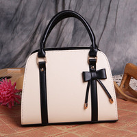 Stylish Fashion Vintage Leather PU Crossbody One Shoulder Bag Hand Bag Ribbon Cute Elegant Multicolor _ 3544