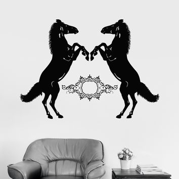 Vinyl Wall Decal Beautiful Horses Animals Room Decoration Stickers Mural Unique Gift (131ig)