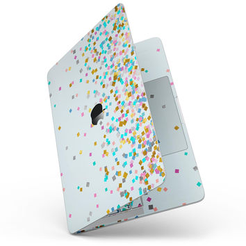 "Scattered Multicolor Shapes Over Blue  - 13"" MacBook Pro without Touch Bar Skin Kit"