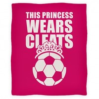 This Princess Wears Cleats (Soccer) Blanket