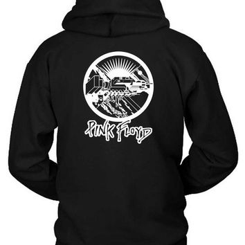 CREYH9S Pink Floyd Black And White Vektorize Hoodie Two Sided