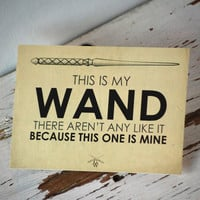 This is my Wand Art card from GipsonWands