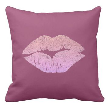 Berry Nice Kiss Throw Pillow