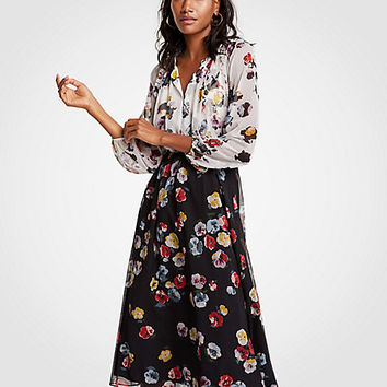 Winter Floral Midi Dress | Ann Taylor