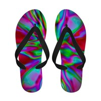 Red Fire Radiance flip flops from TheElementalHome* on Zazzle