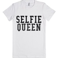 Selfie Queen-Female White T-Shirt