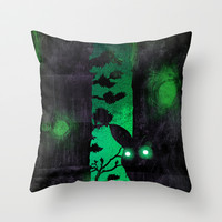 Something's Out There Throw Pillow by Amelia Senville