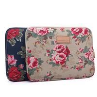 For MacBook Air Pro 13'' 15'' Laptop Bag Lady Apricot Blue Peony Pattern Laptop Sleeve Case Notebook Ultrabook Carry Bag Pouch