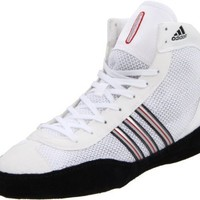 adidas Men's Combat Speed III Wrestling Shoe,White/Black/Radiant Red,11 D US