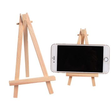 10PC 9*16CM Wooden Table Easel Wedding Party Holiday DIY Decorations Table Card Name Display Holder Mini Wooden Artist Easel
