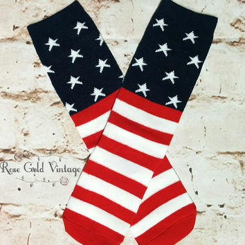 Stars & Stripes Knee Socks (Toddler)