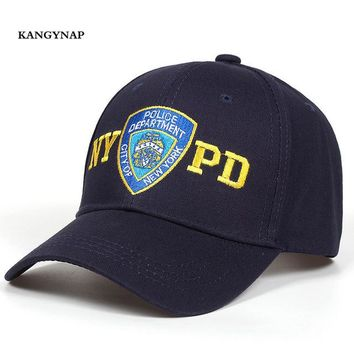 Sports Hat Cap trendy  [KAGYNAP] 2018 New Fashion Police Baseball Cap Embroidery NYPD Trucker Caps Men Women Outdoors  Casual Dad Hat KO_16_1
