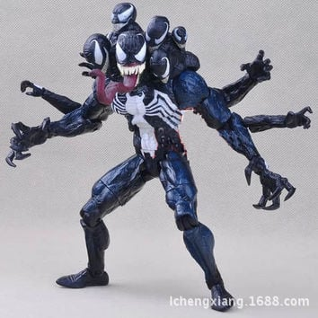 Hot ! NEW 1pcs17cm  spider-man Venom pvc toy Action Figure toys dolls