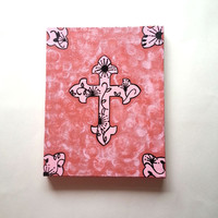 Cross fashionable acrylic canvas painting for trendy girls room or home decor
