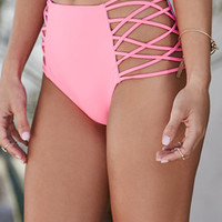 LA Hearts Super Strappy High Waisted Bikini Bottom at PacSun.com