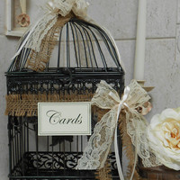 Birdcage Wedding Card Holder / Card Box / Wedding Cardholder / Rustic Wedding decoration