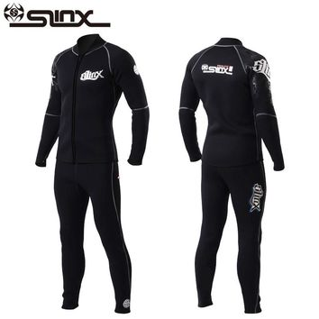 Slinx 3mm Men Women Flocking Scuba Diving Wetsuit Neoprene Winter Fleece Lining Snorkeling Diving Spearfishing Jackets & Pants