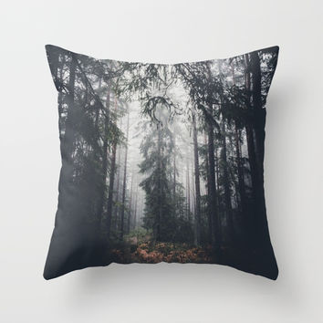 Dark paths Throw Pillow by HappyMelvin