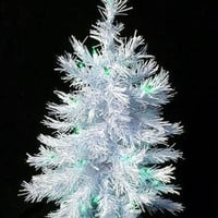 Artificial Christmas Tree - 2 Ft. - 70 White Tips With 35 Green Mini Lights On White Wire