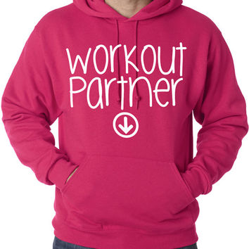 Workout Partner Hoodie Baby Pregnant Pregnancy Women's Gym Workout Fitness Funny Booty Funny Muscle