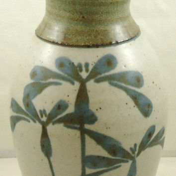 1986 Emmerson Creek Pottery Blue Grey Vase