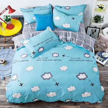 2017 New Bedding Set Twin/Full/Queen/King Size owl Duvet Cover Set Classic Black and White Bed Sheet Sets Home Textile