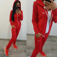 Cultivate one's morality leisure fashion sports fleece suit Y1011 woman