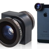Best Brand Three-in-One Multifunctional Lens for iPhone 5 Best Seller(Black)