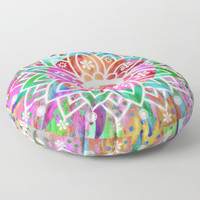 Peace & Good Vibes Floor Pillow by Inspired Images