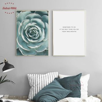 900D Posters And Prints Wall Art Canvas Painting Wall Pictures For Living Room Nordic Succulent Cactus  Decoration NOR008