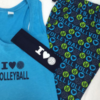 Love Volleyball PJ set