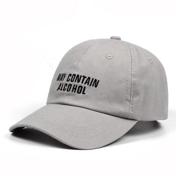 """""""may contain alcohol"""" dad hat"""